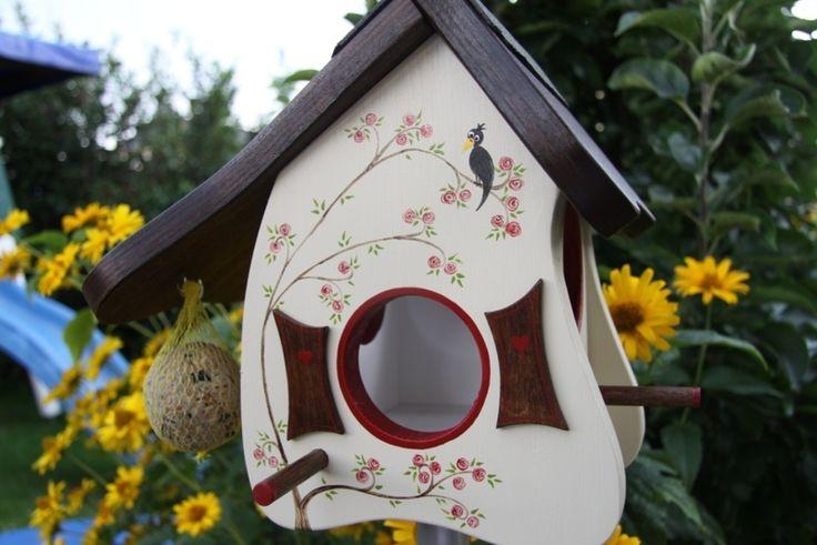 Vogelhaus/Futterhaus: Rosen-Pavillon von Bei uns piept es ! auf DaWanda.com