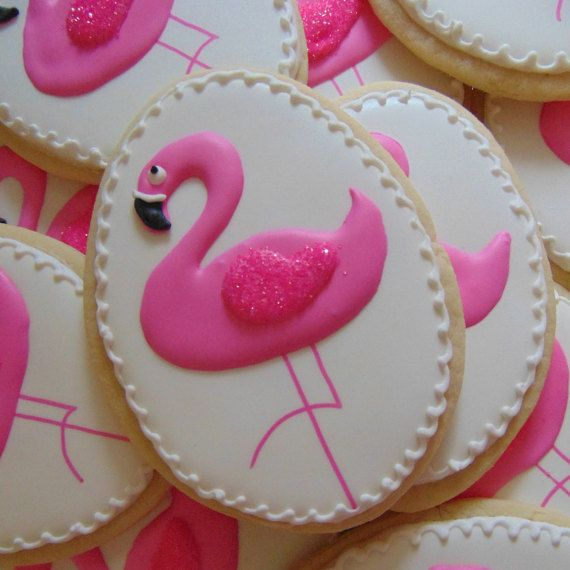 Pink Flamingo Cookies by TreatsbuyTerri on Etsy