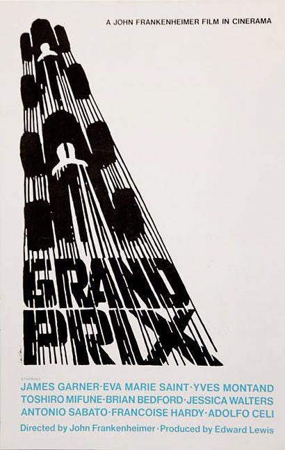 Saul Bass poster of Grand Prix movie, 1966 http://saulbass.tv/ #design