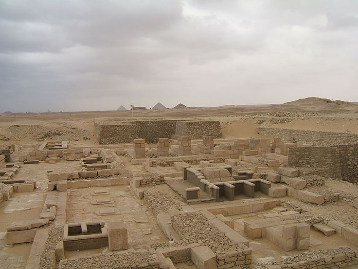 View over the pyramids and mortuary temples of Anchenespepi II and Anchenespepi III