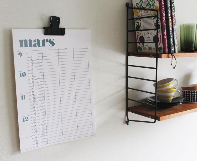 DIY printable calendar 2016