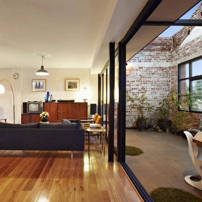 Warehouse conversion in abbortsford - love the raw materiality