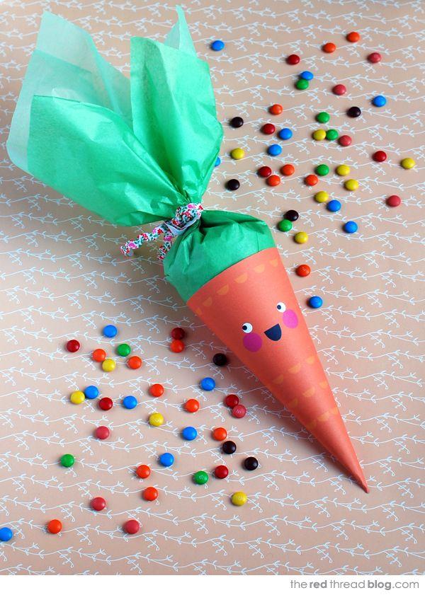 Fiestas infantiles: zanahoria para rellenar con cuches