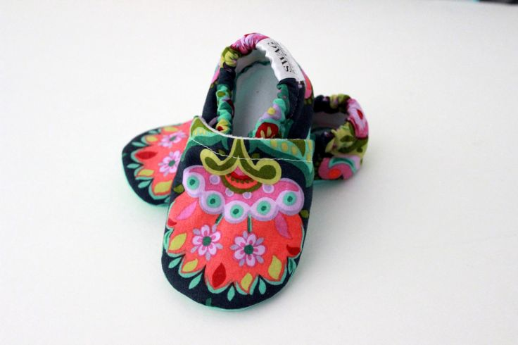 Baby girl shoes Baby Booties walking shoes Amy Butler Bright Heart Folk Bloom Infant Shoes toddler SWAG booties Mint Green  girl crib shoes by SWAGbooties on Etsy