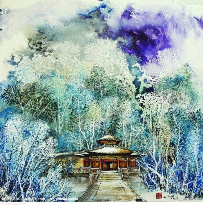 пейзаж художника Bai Haoran -10
