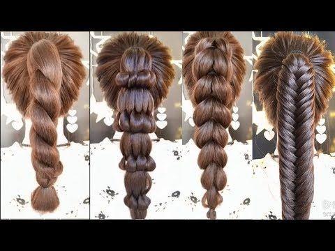 Alltägliche Frisuren für langes Haar / Einfache Frisuren 2019 / Frisur EINFACHE UND SCHÖNE BRÜCKEN für Mädchen - YouTube - # 2019