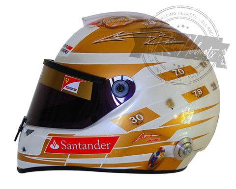 Fernando Alonso 2012 Monaco F1 Replica Helmet Scale 1:1