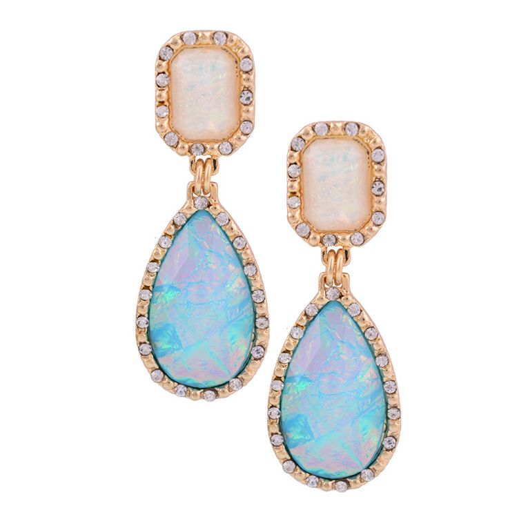 women ethnic jewelry earrings antique gold colorful resin drop crystal statement earrings for women