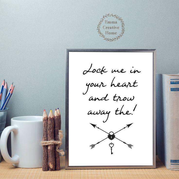 Quotes Print, Wall art Print, Digital Print, Love, Digital Download, JPG, Dekor, Quotes Printable by EmmaCreativeHome on Etsy