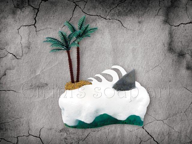 Island with shark soap