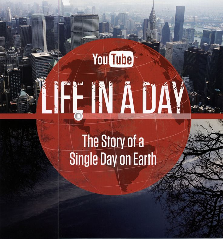 Life in a Day: The Story of a Single Day on Earth.  The full length film is available on Youtube.  Footage from 192 countries documenting our daily lives,  a 24 hour period, July 24, 2010. on earth.