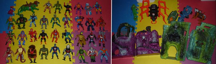 Masters of the Universe collection  So here's most of my He-man & the Masters of the Universe collection from my 80's childhood. I didn't bother setting up all the weapons and things like that, but most of my collection is here. I was inspired to post after seeing the avatar of a twitter user I follow.  I lost a few pieces after taking them out of storage about 7 years ago to let my kids play with them. It's not all their fault though, especially where the rubber connectors for the legs had…