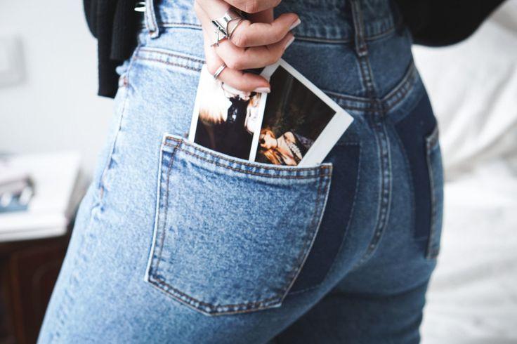 Polaroid, Polaroid collection, Mom Jeans, Denim on Denim, Fashion, Streetstyle