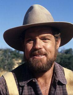 "Merlin Olson as Mr. Garvey on ""Little House on the Prairie"""