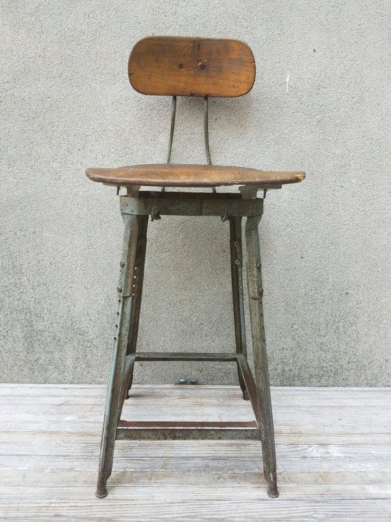 Awesome Vintage Industrial Counter Stools