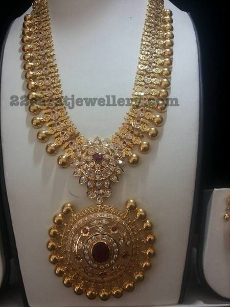 Antique Gold Balls CZ Set