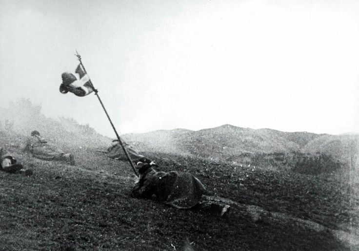 Gudaris vascos en combate, frente de Asturias, 1937.