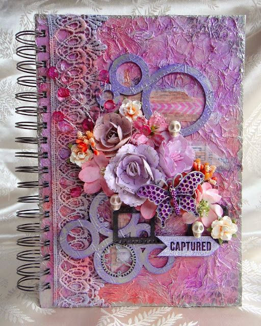Blue Fern Studios: A layout and an art journal with Jackie Clark