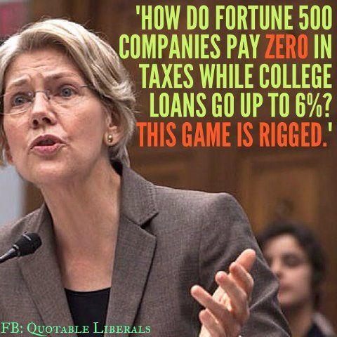 Student loans & class warfare ~ elizabeth warren