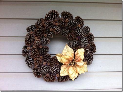 Pine Cone Wreath - alleen dan zonder die bloem...