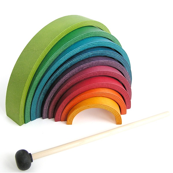 Naef Rainbow Musical Toy and Puzzle: These colorful wooden arcs are endlessly fun.