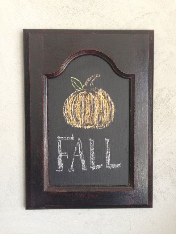 Hand Painted Black Cabinet Door Chalk Board w/ Red by Murage, $25.00