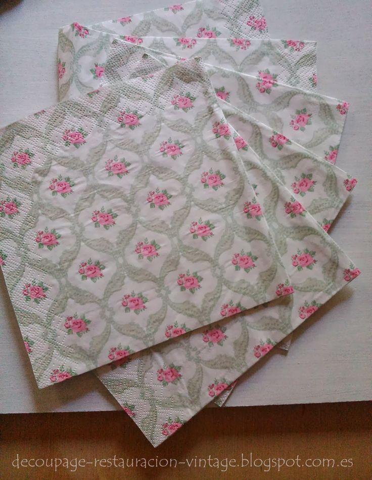 Para la t cnica decoupage he elegido estas servilletas for Decoupage con servilletas en muebles