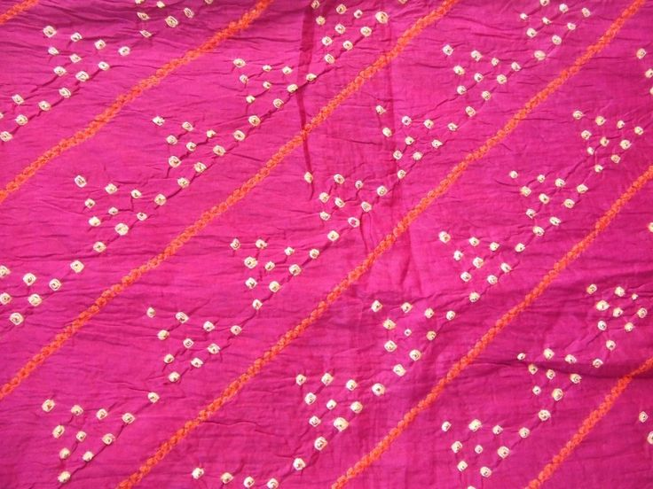 Bandhani: The centers of tie and dye fabrics, especially in Gujarat are Jamnagar in Saurashtra (the water in this area brings out the brightest red while dying), and Ahmedabad. The finest bandhni work of Rajasthan comes from Bikaner, Jaipur, Jodhpur, Barmer, Pali, Udaipur and Nathdwara. Rajasthan is well known for its Leheriya pattern – literally meaning waves. These are harmoniously arranged diagonal stripes,...