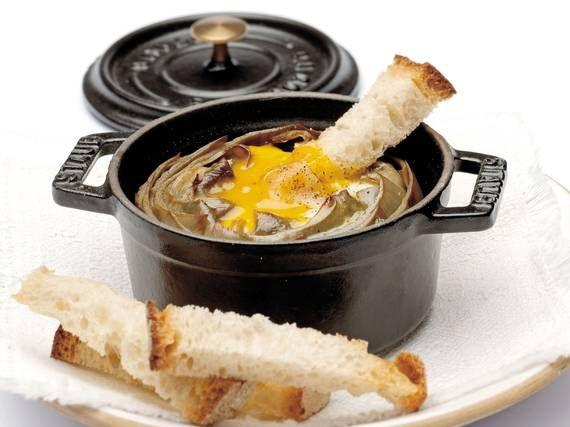 Carciofi con l'uovo - Piattoforte