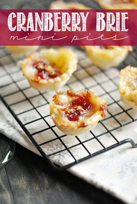 Cranberry Brie Mini Pies are the perfect little holiday bite for entertaining! So easy to pull off and delicious too.