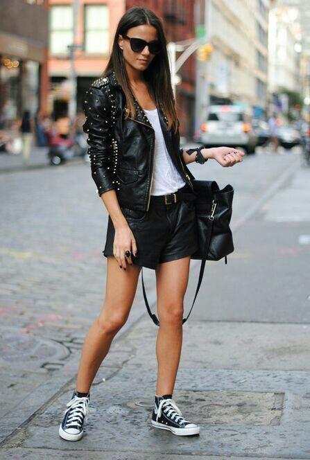 Studded leather jacket - love it