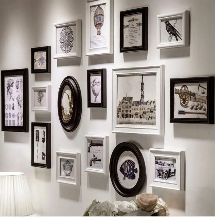 The Modern Concise Style Unique Family Photo Frame,Home Decor Hang Wall Wooden Frame,Blue,White,Black Colours Silver Photo Frames Black Picture Frames From Cindy668, $104.53| Dhgate.Com