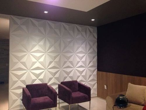 placa de gesso 3d board cullinans revestimento de parede