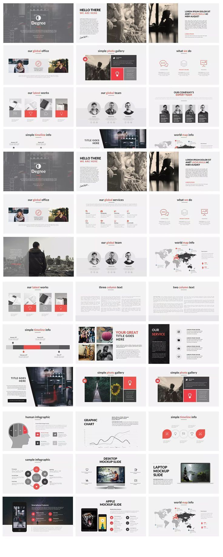 degree powerpoint presentation template design inspiration