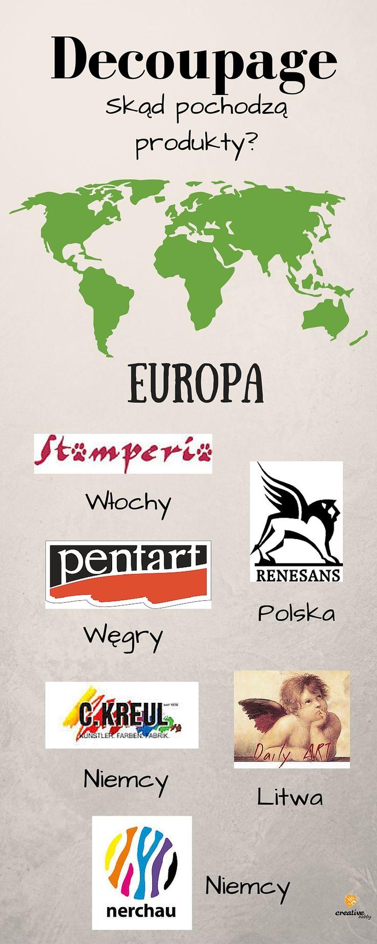 Czy znasz te firmy? Ich produkty do rękodzieła znajdziesz w naszym sklepie: http://www.creativehobby.pl