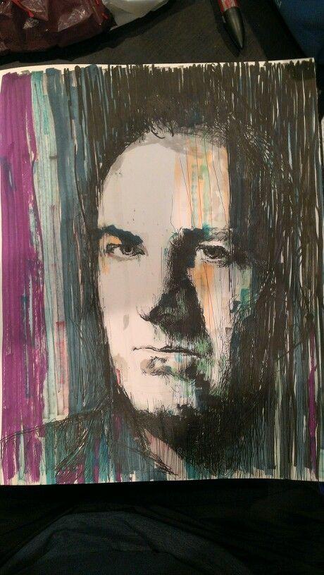 James Gandolfini,pen drawing.