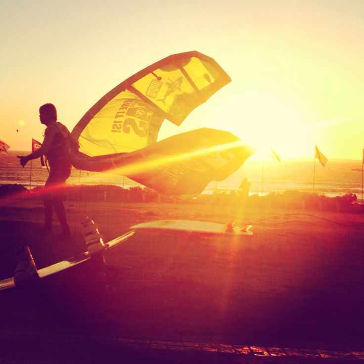 Sunset Kite Surfer ~ Eden on the Bay * CapeTown, South Africa by: Charine Biggs