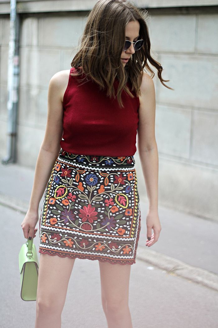 Beautiful skirts from $33.90 - Now Available in Store at Pasaboho. We Love boho style and embroidery stitches. Free Spirit hippie girls sharing woman outfit ideas. bohemian clothes, cute dresses and skirts. Fashion trend and styles from hippie chic, modern vintage, gypsy style, boho chic, hmong ethnic, street style, geometric and floral outfits.