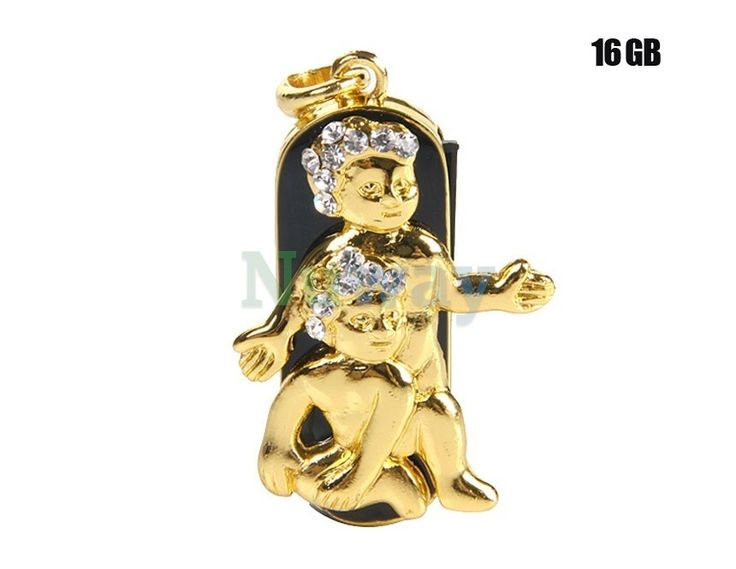 16G Gorgeous Gemini Design USB Flash Drive (Golden) | Nuway Shopping