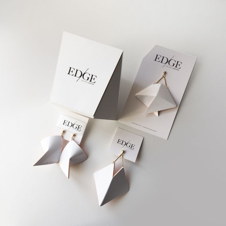 Edinas Paper Installations have designed this packaging uniquely for EDGE collection by Karman Jewelry. 2016