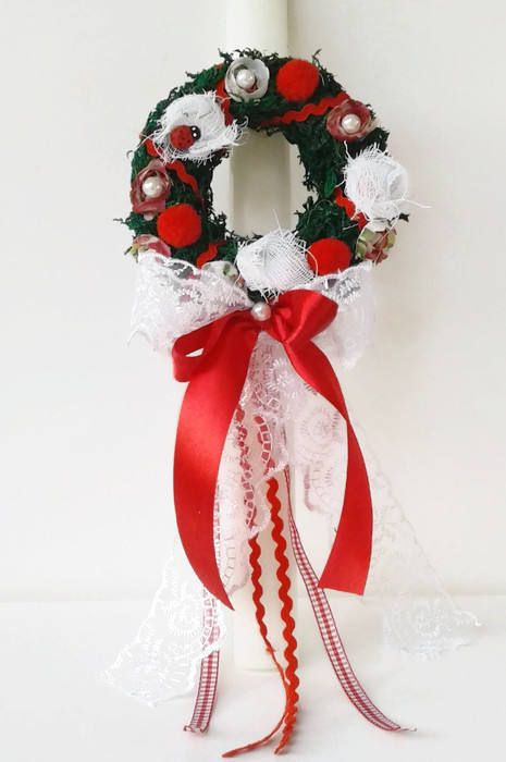 Greek Easter candle lambada Wreath