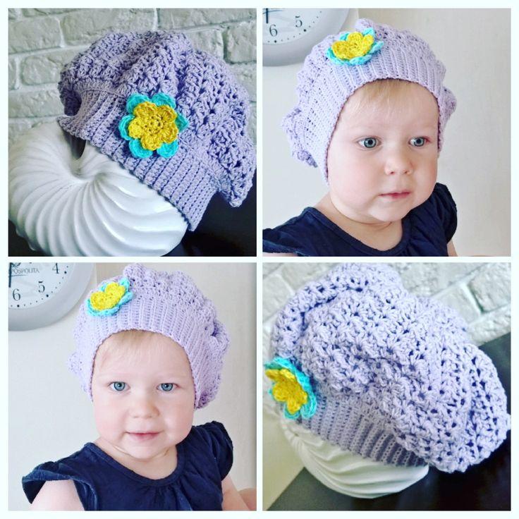 Beret na jesień / Crochet hat for autumn time  #jesien #handmade #rekodzielo #diy #beret #szydełkowanie #crochet #yarnartjeans #littlegirl #baby #4babies #4kids #crochethat #autumn #autumntime #babielato #crochetflower #szydelkowykwiatek #dladzieci #impresje #szydelkowamoda