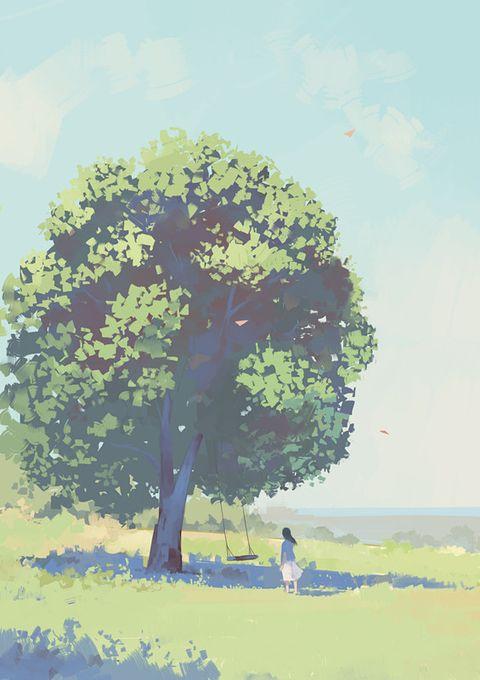「还有多少回忆 藏着多少秘密 在你心里我也许只是 你欣赏的风景」/「邦乔彦」のイラスト [pixiv]
