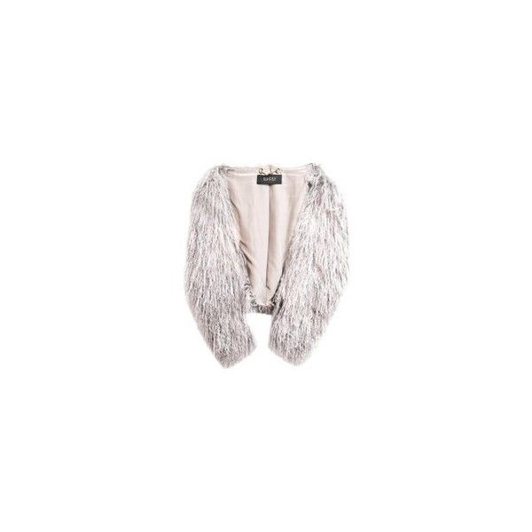 Gucci Grey Lamb Fur Shrug Jacket Sz IT40 ❤ liked on Polyvore featuring outerwear, grey shrug, gucci, shrug cardigan, cardigan shrug and gray shrug