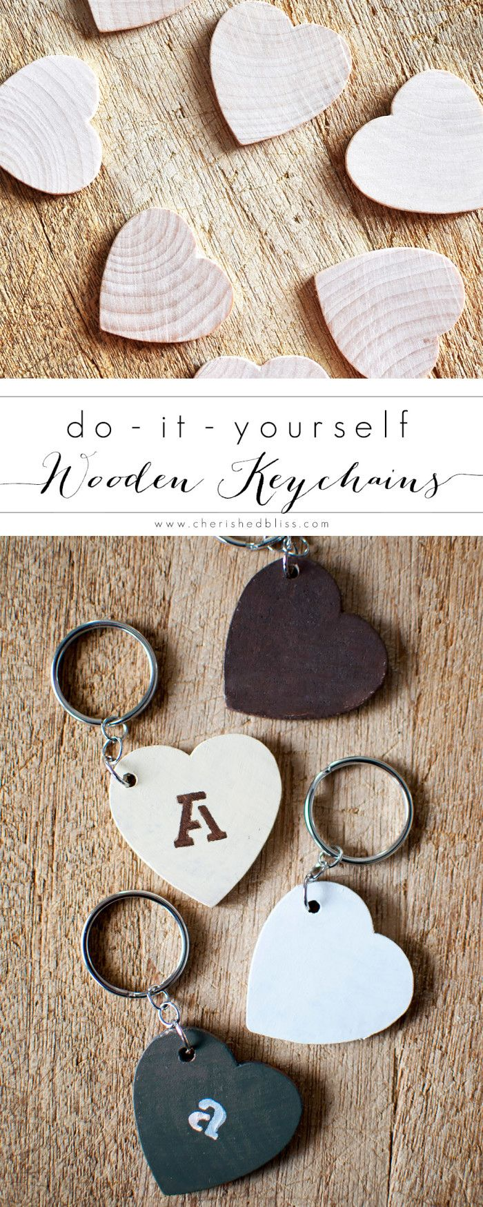 The 25 best handmade keychains ideas on pinterest felt diy keychains made from wooden hearts negle Choice Image