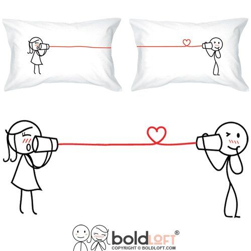 """BOLDLOFT® """"Say I Love You Too"""" His & Hers Couple Pillowcases-Matching Couple Gifts,His and Hers Gifts,Christmas Gifts for Him,Valentines Day Gifts for Him,Dating Anniversary Gifts for Boyfriend"""