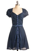 "This site has ""mod retro vintage"" clothes! Way fun!: Summer Dresses, Polka Dots Dresses, Style, Cute Dresses, Polkadot, Bridesmaid Dresses, Cap Sleeve, Perfect Dresses, Blue Polka Dots"