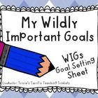 """*A GREAT resource for schools following the """"Leader in Me"""" model* If you are looking for an adorable addition to Data Notebooks...here it is! Students can set personal or academic goals, write action steps and list resources needed to achieve their goals."""
