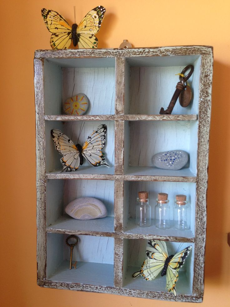 Decorative shelving. Ornament collections.