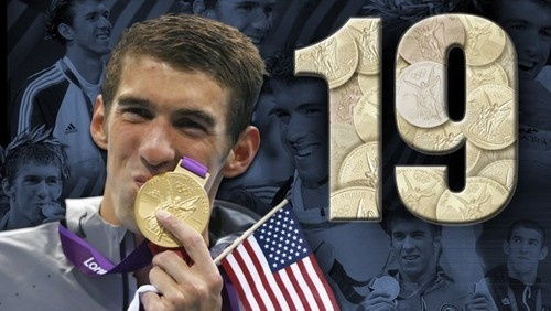 Congratulations to Michael Phelps for breaking the record of most Olympic medals won by an athlete.    He tied the record after winning a silver medal in the 200 butterfly early today, and beat the record after USA took home gold in the men's 4x200 free relay.    The other USA swimmers to help him accomplish this was Ryan Lochte, Conor Dwyer, and Ricky Berens.     The record was originally held by Russian gymnasts, Larysa Latinina, with 18 medals won in the 1950's and 60's.